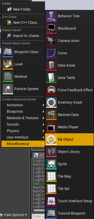 Creating a Content Browser Asset in UE4 | Wraiyth's Blog